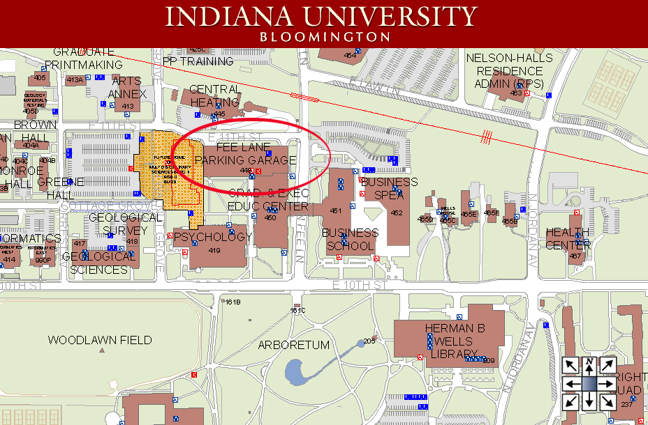 Iu Bloomington Map HELPFUL MAPS: Institute for Curriculum and Campus